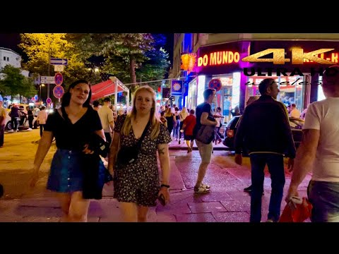 [4k HDR] Night life Walking TourAt Hamburg city 🌆 Germany 🇩🇪 2021