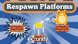 Unity Tutorial How To Respawn Falling Platforms In Simple 2D Platformer Game.