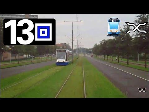 🚋 GVB  Amsterdam Tramlijn 13 Cabinerit Centraal Station - Geuzenveld Driver