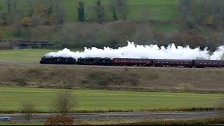 Cathedrals Express Steam Train Leaving Bath  (View from Newton St Loe)