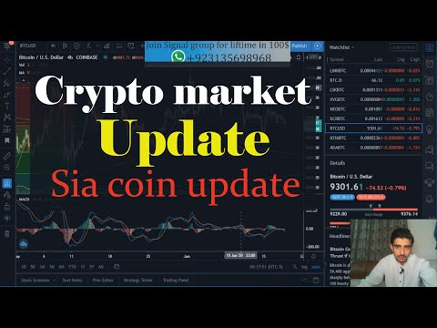 Bitcoin price analysis …. Crypto market update…. Sia coin trade update….
