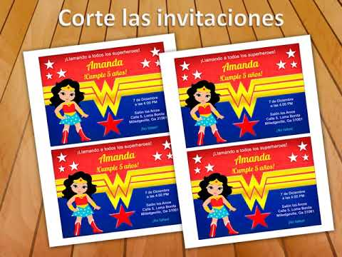 Invitación Mujer Maravilla Gratis Todo Gratis Para Tu