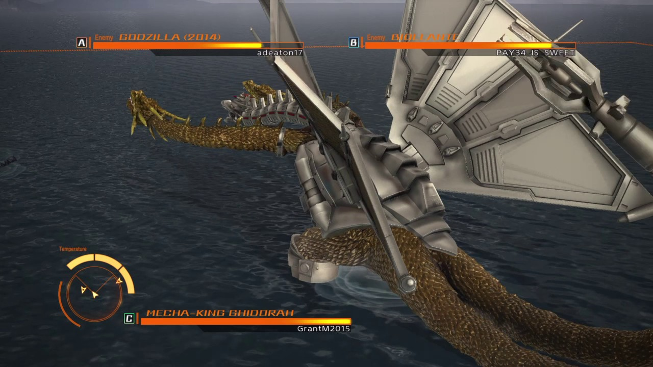 Mecha king ghidorah vs godzilla 2014 vs biollante - YouTube