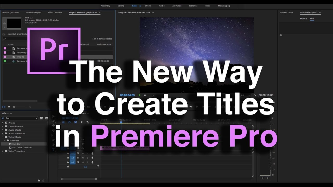 how to make fade in graphics premier pro