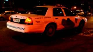 STM FORD CROWN VIC POLICE CARS - COTE DES NEIGES METRO STATION