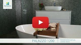 Palazzo Bathroom Vanity Modern Freestanding Stone Top 1200 fontaineind.com.au