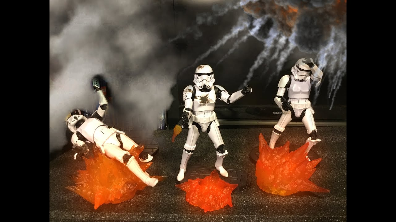 Disney Store Exclusive! Star Wars Black Series STORMTROOPER w BLAST EFFECT