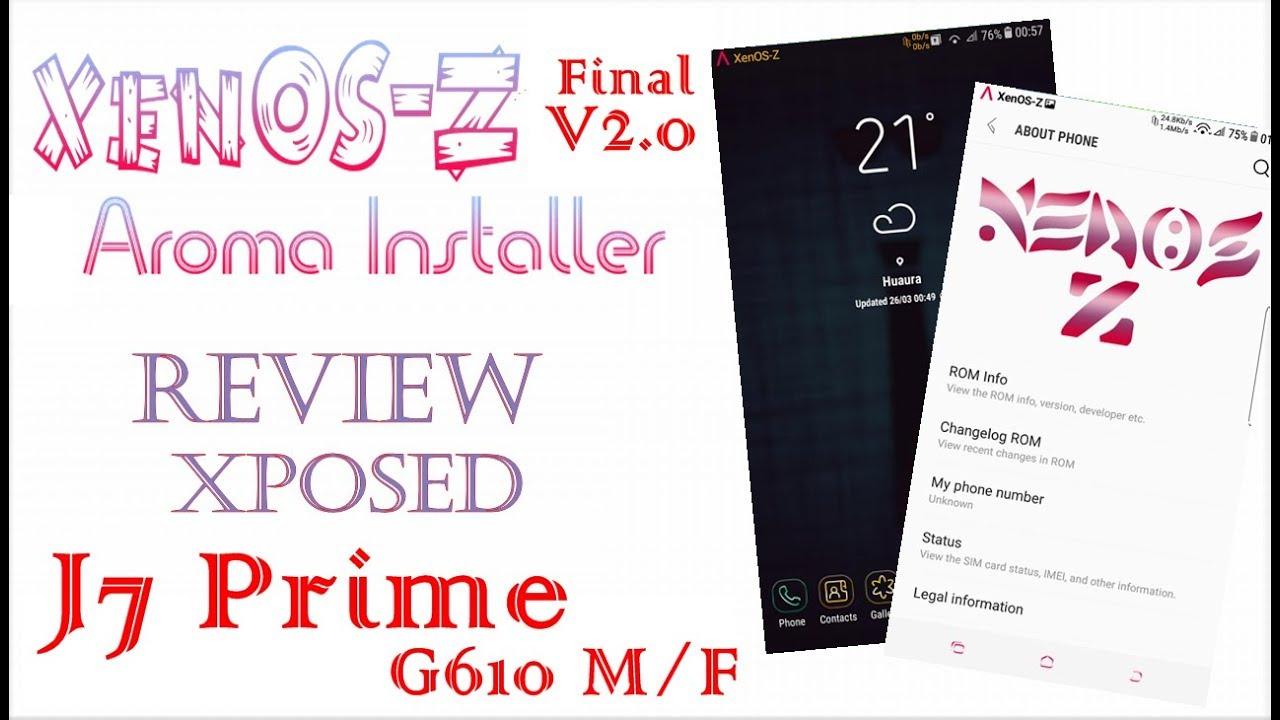 XenOS Z v2 0 Final J7 Prime M/F - Instalação/Review/Xposed