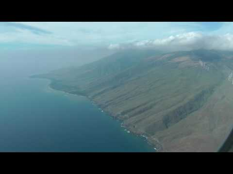 approaching and landing on Maui, Hawaii's main airport at Kahului