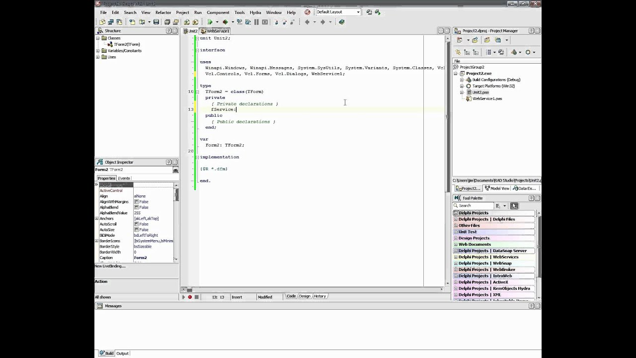 Integrating embarcadero prism web services with vcl and firemonkey.