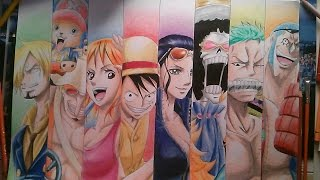 "Drawing ""The StrawHat Pirates"" - speed drawing One Piece"