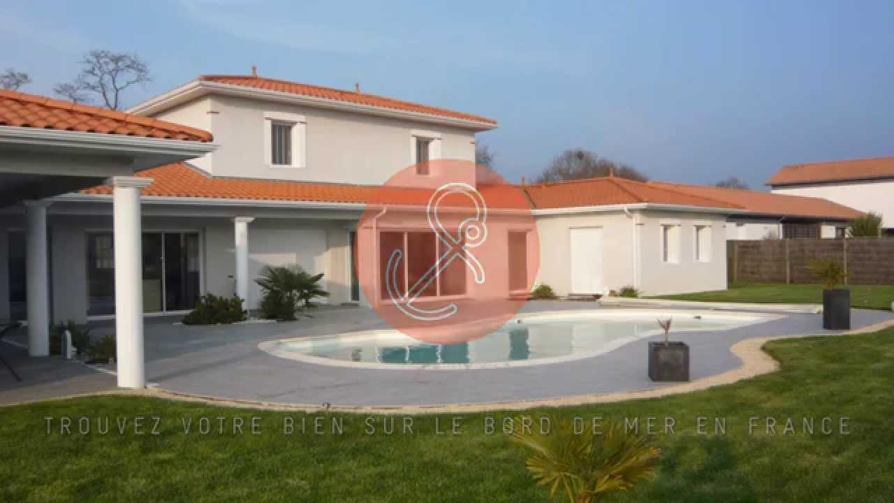 A vendre maison d 39 architecte avec piscine pornic 44210 youtube - Petite maison architecte ...