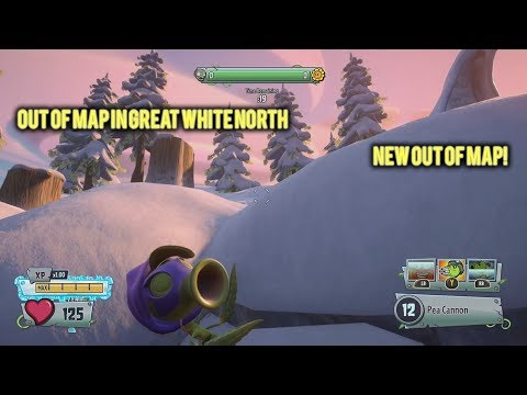 New Out of Map in Great White North - Plants vs. Zombies Garden Warfare 2 Glitch