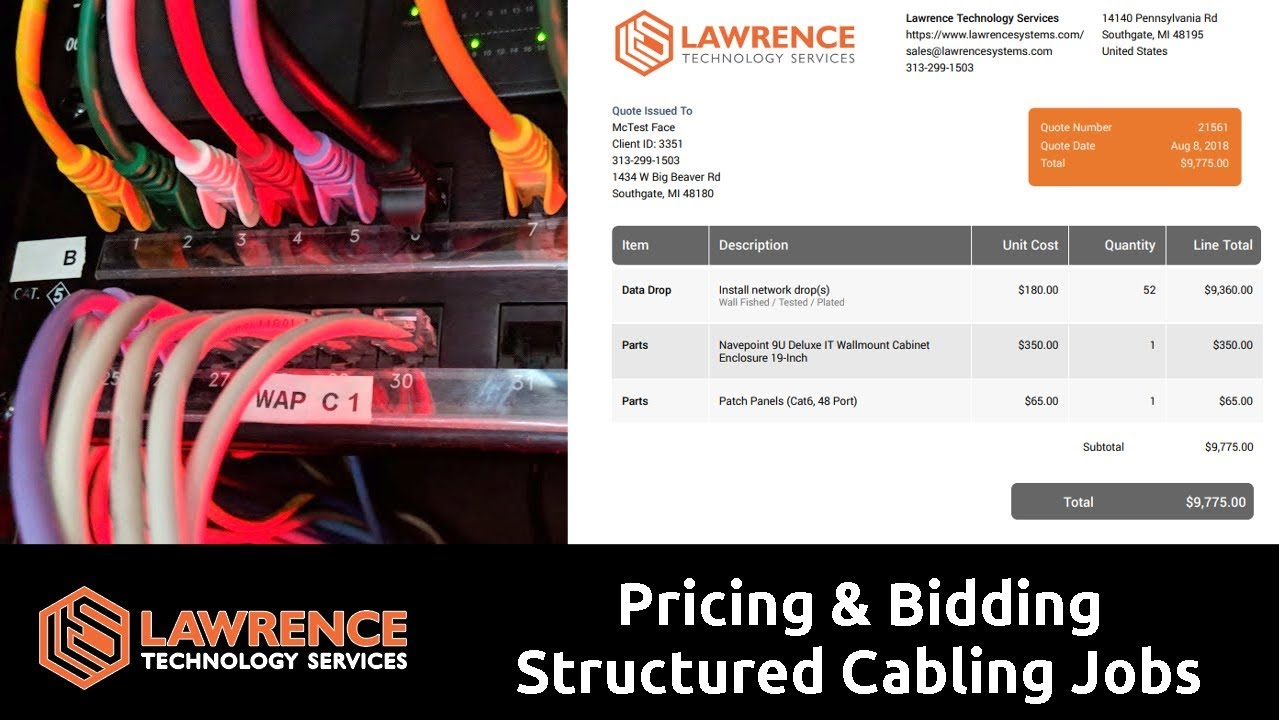 how we do pricing bidding for structured cabling jobs from start to finish [ 1280 x 720 Pixel ]