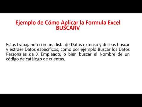 Como Aplicar la Formula Excel BuscarV
