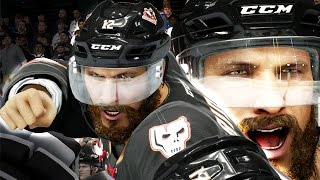 NHL 16 Be A Pro Career Mode Gameplay Ep. 1 - FIGHTING in First Game! Bridges Goes For GOALS!