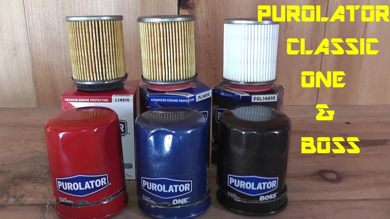 Purolator Classic Purolator One Purolator Boss Oil Filter Review Youtube