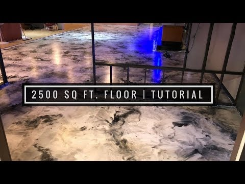 2,500 Sq Ft Metallic Epoxy Coating Over Existing Tile Floor
