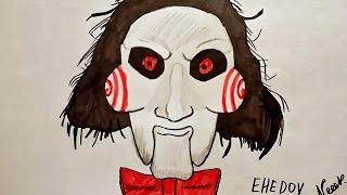 How to draw SAW (Ehedov Elnur) Как нарисовать Пилу из фильма