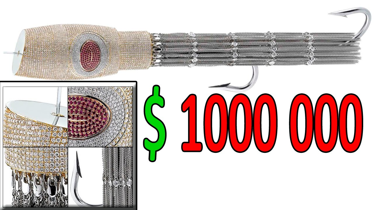 The most expensive fishing lures in the world youtube for Expensive fishing rods