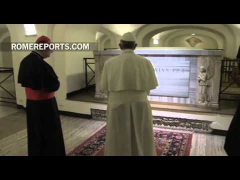 Pope Francis visits Vatican Grottoes to pray for deceased Pontiffs