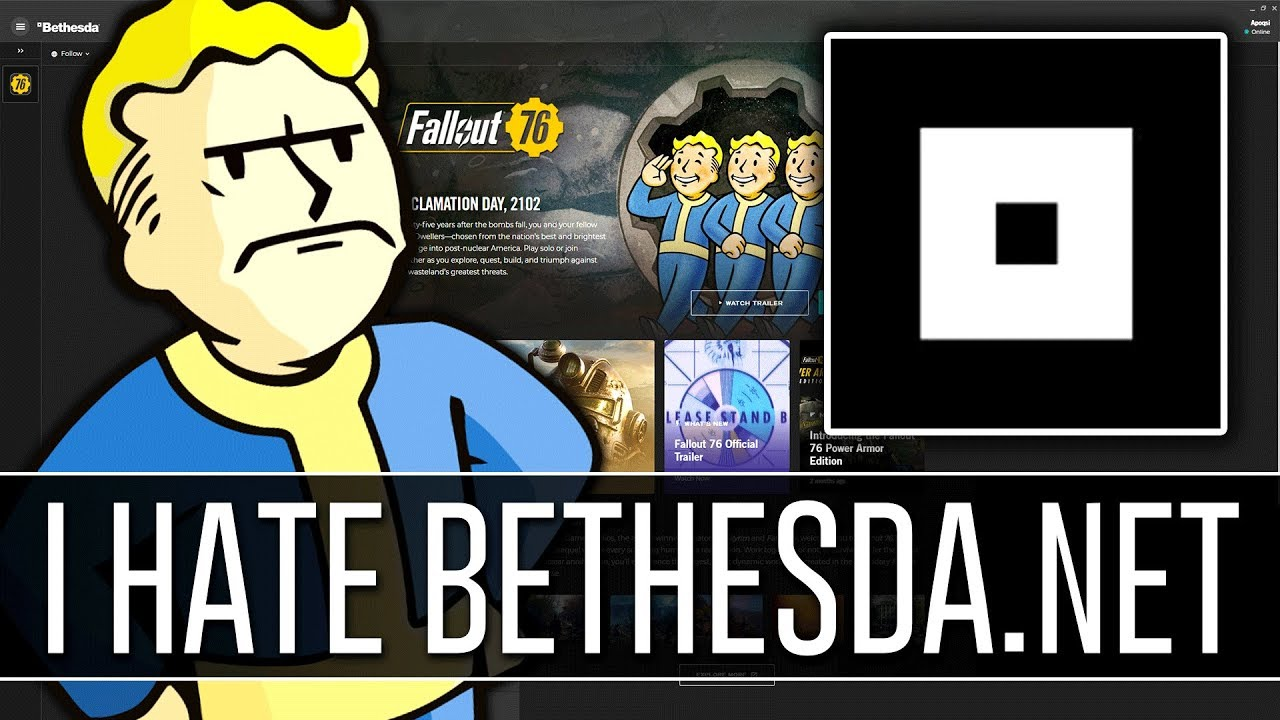 Why I HATE Bethesda net Launcher #Fallout76
