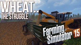 Farming Simulator 15 (2015) - Wheat Struggles & Cock Hunting - Highlights Gameplay [hd 60 Fps]