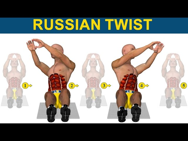 Ćwiczenia brzucha: Russian twist