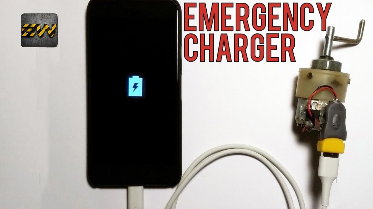 emergency mobile charger using dc motor [ 1280 x 720 Pixel ]