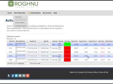 Roghnu Trade Alerts: The Best Day Trading Algorithm