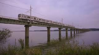 JR鹿島線 潮来市 北浦橋梁 B B BASS車輌