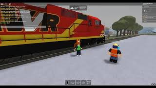 ROBLOX AWVR 777 & 767 Unstoppable Train Departing out of Fuller Yard