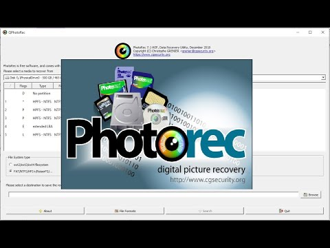 Setup Free Open Source Digital Picture And File Recovery Software TestDisk & PhotoRec 7.0