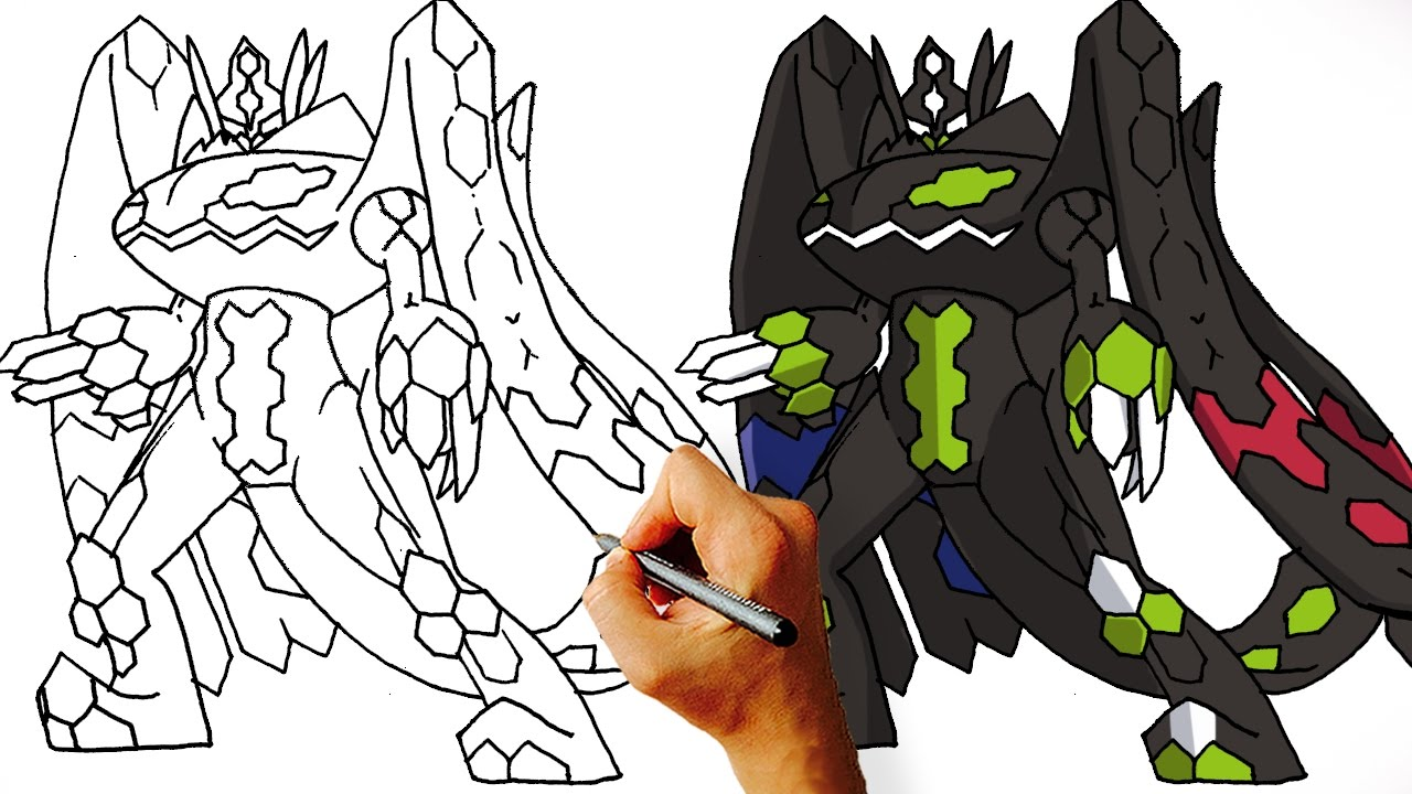 how to draw zygarde 100 perfect form pokemon step by step art