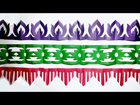 paper cutting design-How to make paper cutting border designs|  paper art easy step by step..