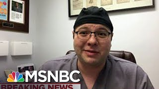 NJ physician: Health workers' attempts to be conservative with masks 'won't be enough' | MSNBC