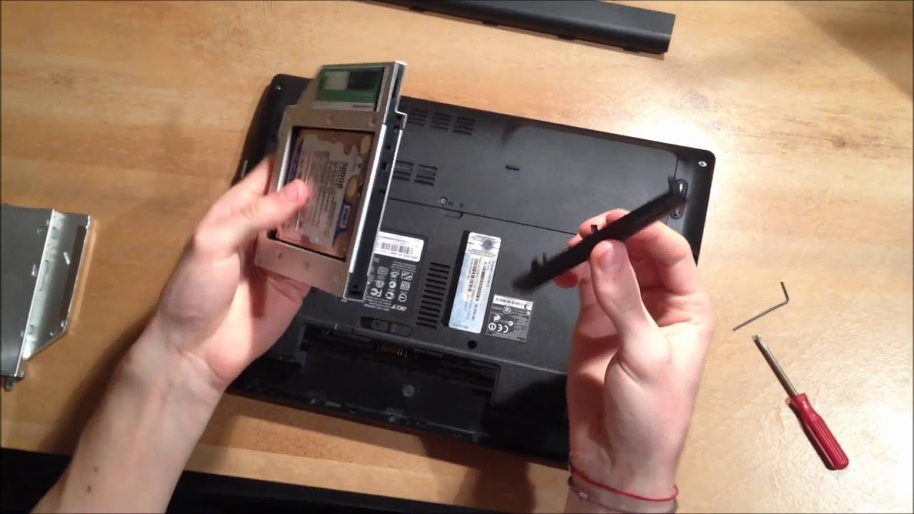 Acer Aspire 4741G adding 2nd HDD SSD using DVD optical drive bay