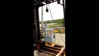 Испытание FOPS кабины погрузчика