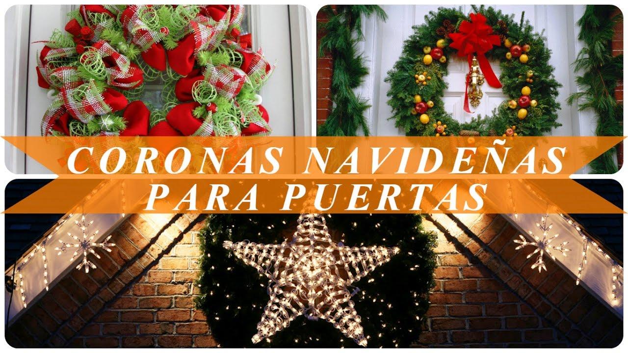 Coronas navide as para puertas youtube for Guirnaldas para puertas navidenas