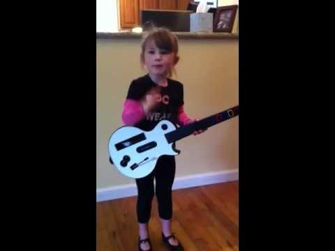3-year-old Katherine sings Pat Benatar's