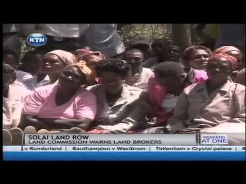 The national land commission warns against land brokers auctioning community land