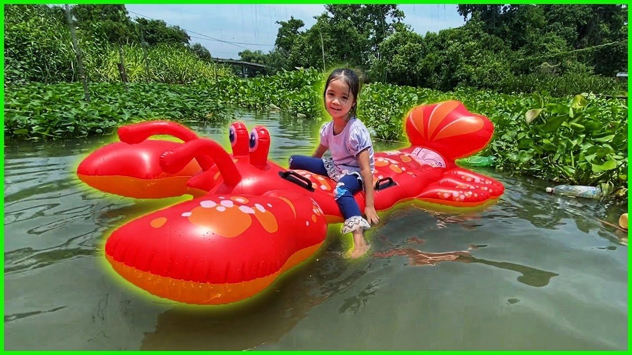 บริ้งค์ไบรท์ | เล่นน้ำคลอง รีวิวแพยางเป่าลม กุ้งล็อบสเตอร์ สีแดง