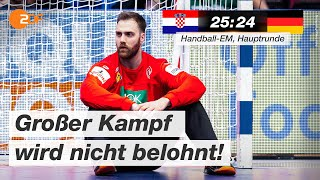 Kroatien - Deutschland 25:24 - Highlights | Handball-EM 2020 - ZDF