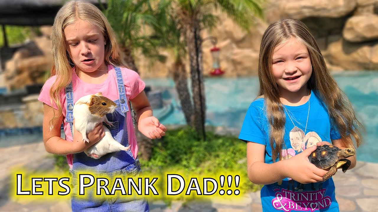 Taking Our Pets for a Walk & Pranking Our Dad!!!