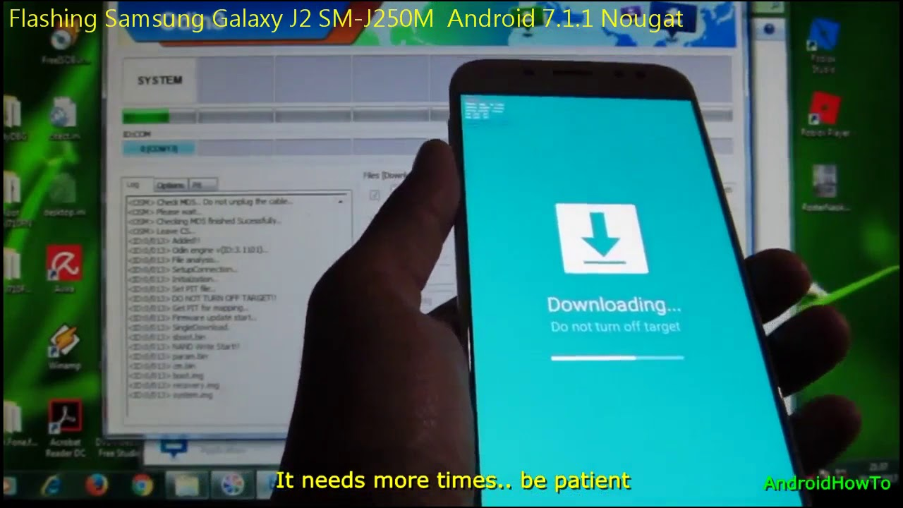 Update ( Flashing ) Samsung Galaxy J2 SM-J250M to Android 7 1 1 Nougat by  AndroidHowTo