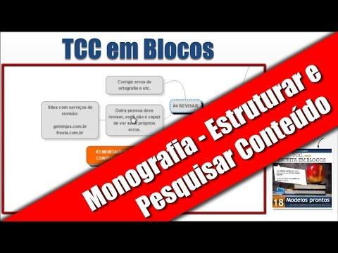 TCC EM BLOCOS - COMO ESTRUTURAR E PESQUISAR CONTEÚDO NA MONOGRAFIA