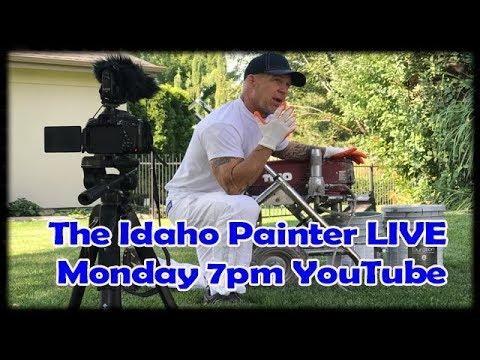 The Idaho Painter Live.  Airless Sprayer Problems & Repairs.