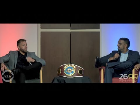 *SAUNDERS v CASSIUS* - BILLY JOE SAUNDERS v KUGAN CASSIUS (FULL INTERVIEW) @ BRAMELL LANE, SHEFFIELD