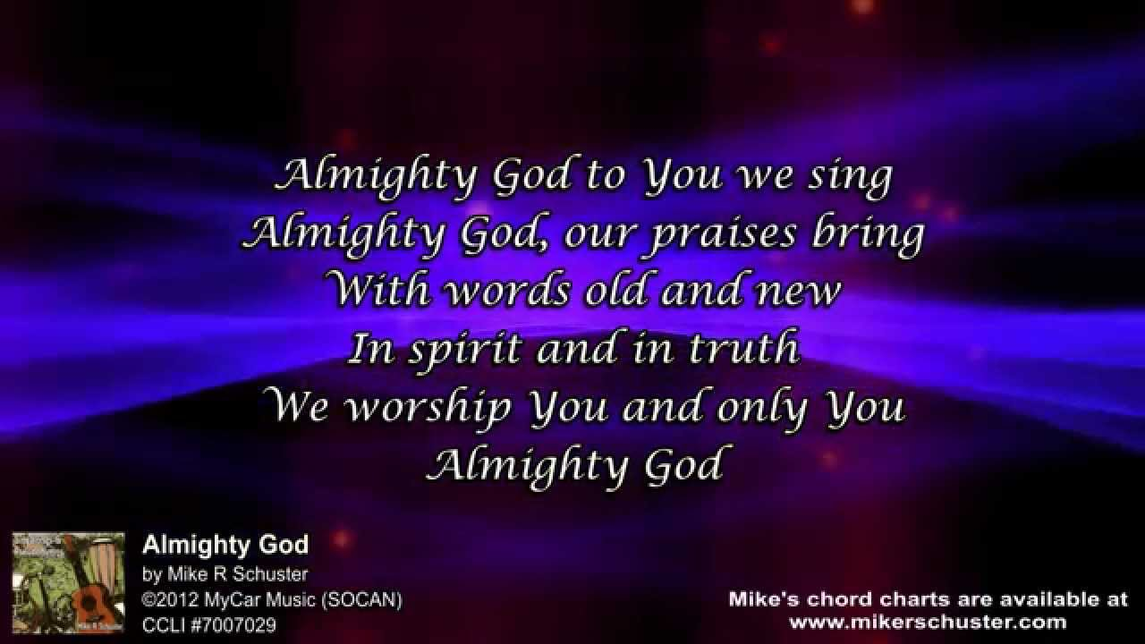 i worship you almighty god chords pdf
