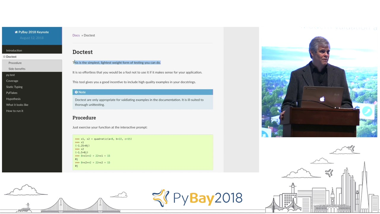 Image from Keynote - Preventing, Finding, and Fixing Bugs On a Time Budget | Raymond Hettinger @ PyBay2018